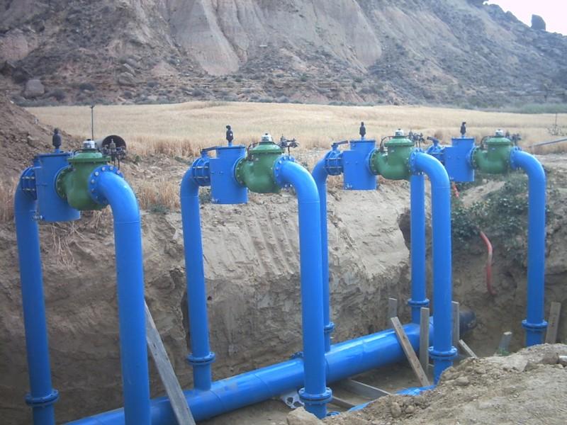Hidrantes contadores y v lvulas volum tricas riego for Aspersores para riego de jardin